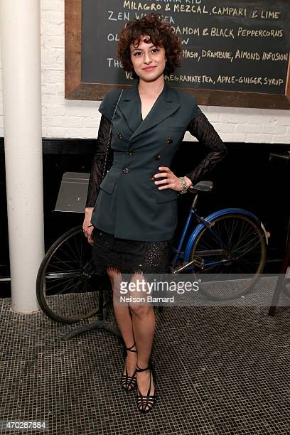 Actress Alia Shawkat attends the 2015 Tribeca Film Festival 2015 After Party for 'Driftless Area' at Almond on April 18 2015 in New York City