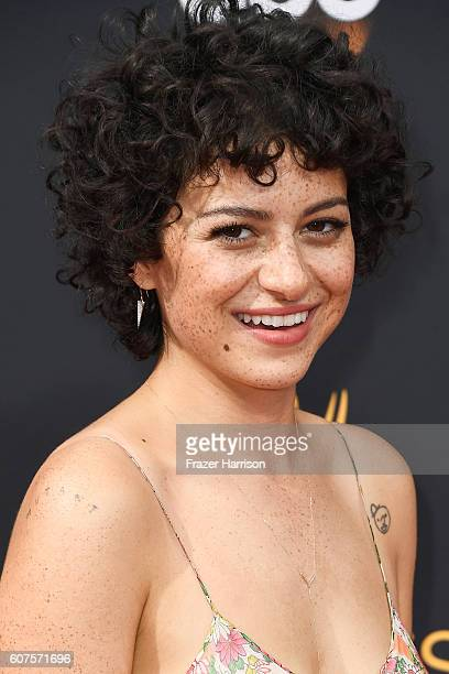 Actress Alia Shawkat attends the 68th Annual Primetime Emmy Awards at Microsoft Theater on September 18 2016 in Los Angeles California
