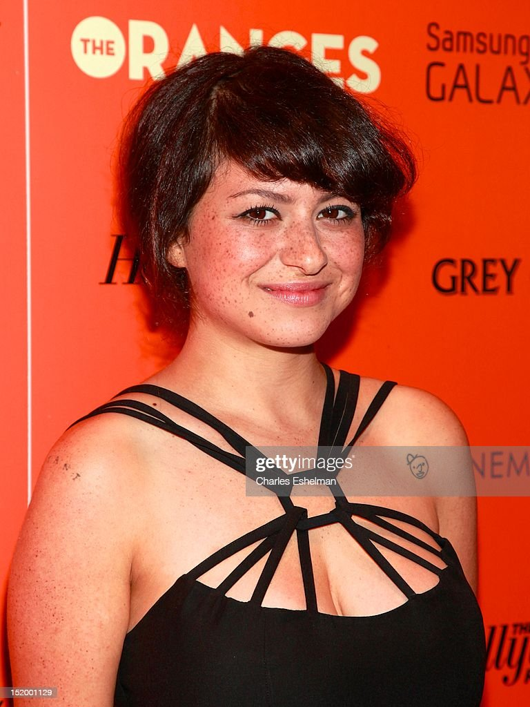 Actress Alia Shawkat attends The Cinema Society with The Hollywood Reporter & Samsung Galaxy S III host a screening of 'The Oranges' at Tribeca Screening Room on September 14, 2012 in New York City.