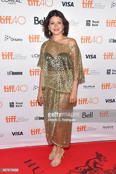 Actress Alia Shawkat attends the 'Green Room' and 'The Chickening' premieres during the 2015 Toronto International Film Festival at Ryerson Theatre...