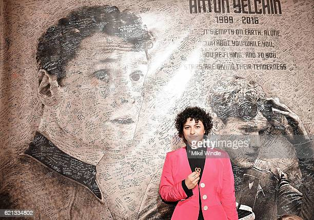 Actress Alia Shawkat attends the opening of the Anton Yelchin photography exhibit at Other Gallery on November 5 2016 in Los Angeles California