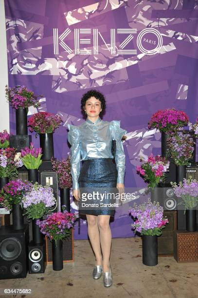 Actress Alia Shawkat attends the Premiere of KENZO Presents 'Music Is My Mistress' a film by Kahlil Joseph at The Underground Museum on February 9...