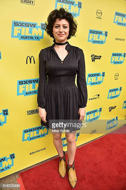 Actress Alia Shawkat attends the premiere of Peewee's Big Holiday during the 2016 SXSW Music Film Interactive Festival at Paramount Theatre on March...