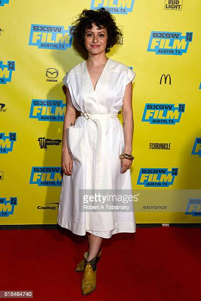 Actress Alia Shawkat attends the premiere of 'Search Party' during the 2016 SXSW Music Film Interactive Festival at Vimeo on March 13 2016 in Austin...