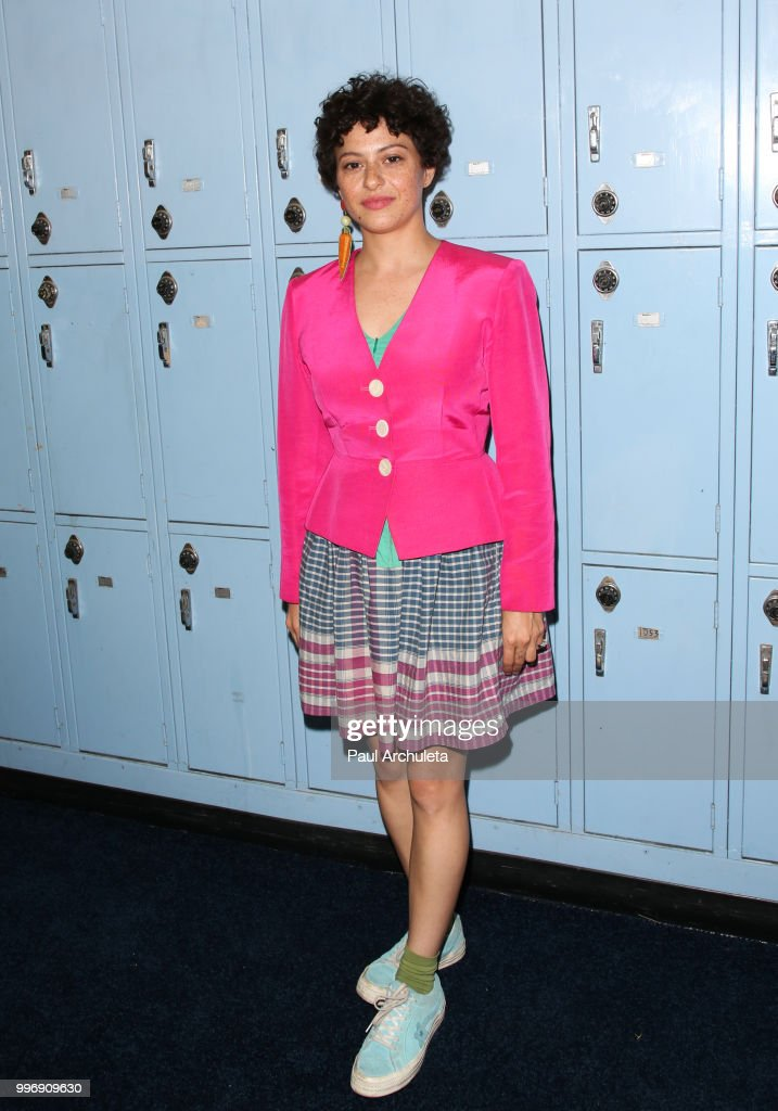 Actress Alia Shawkat attends the screening of A24's 'Eighth Grade' at Le Conte Middle School on July 11, 2018 in Los Angeles, California.