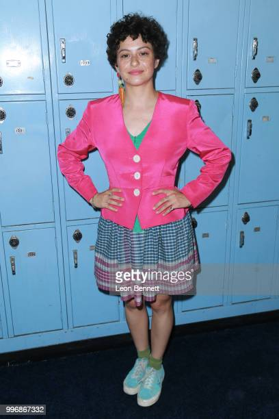 Actress Alia Shawkat attends the Screening Of A24's 'Eighth Grade' Arrivals at Le Conte Middle School on July 11 2018 in Los Angeles California