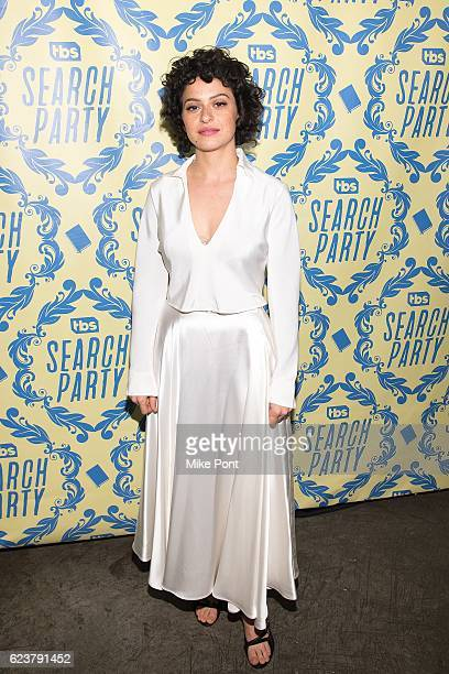 Actress Alia Shawkat attends the 'Search Party' Premiere Party at Metrograph on November 16 2016 in New York City