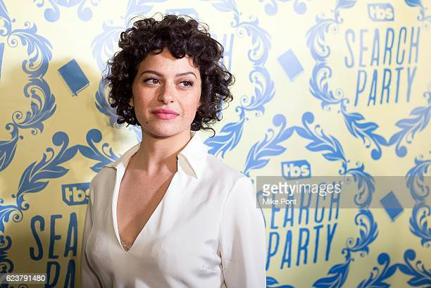 Actress Alia Shawkat attends the Search Party Premiere Party at Metrograph on November 16 2016 in New York City