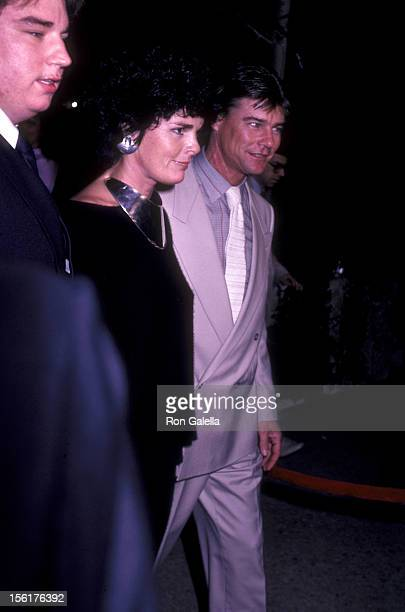 Actress Alic McGraw and actor JanMichael Vincent attend the screening of 'Winds Of War' on January 18 1983 at the Plitt Theater in Century City...