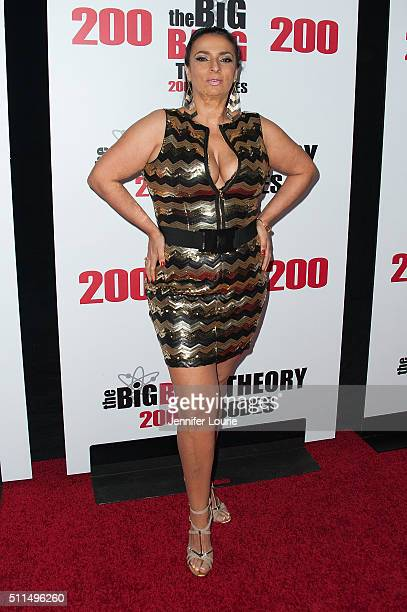 Actress Alice Amter arrives at the CBS's 'The Big Bang Theory' Celebrates 200th Episode at the Vibiana on February 20 2016 in Los Angeles California