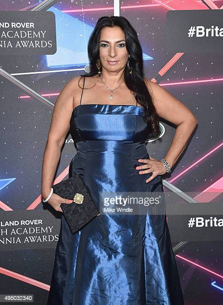 Actress Alice Amter attends the 2015 Jaguar Land Rover British Academy Britannia Awards presented by American Airlines at The Beverly Hilton Hotel on...