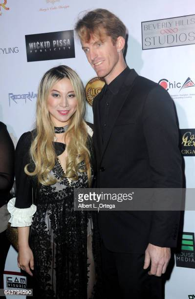 Actress Alice Aoki and husband Justin Aoki arrive for the Roman Media Inc's 3rd Annual Red Carpet And Fashion Show held at Boulevard3 on February 21...