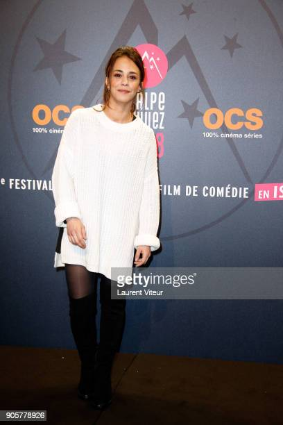 Actress Alice Belaidi attends Opening Ceremony during the 21st L'Alpe D'Huez Comedy Film Festival on January 16 2018 in Alpe d'Huez France
