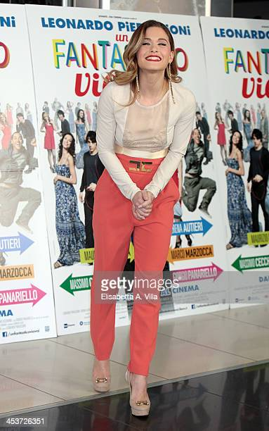 Actress Alice Bellagamba attends 'Un Fantastico Via Vai' photocall at Cinema Adriano on December 5 2013 in Rome Italy
