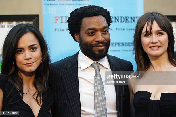 Actress Alice Braga actor Chiwetel Ejiofor and actress Emily Mortimer arrive at the Los Angeles special screening of Redbelt held at The Egyptian...