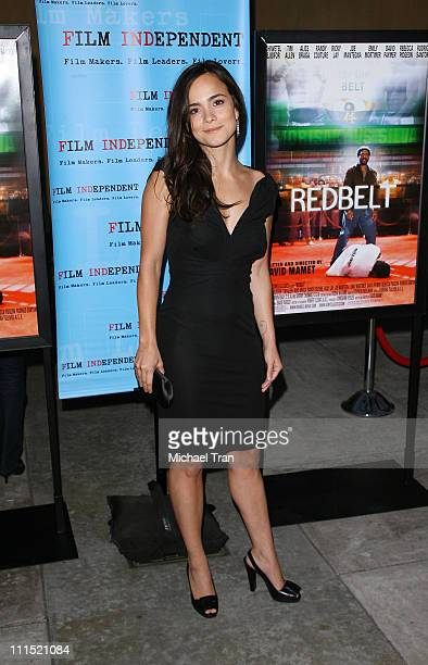 Actress Alice Braga arrives at the Los Angeles special screening of 'Redbelt' held at The Egyptian Theatre on April 7 2008 in Hollywood California