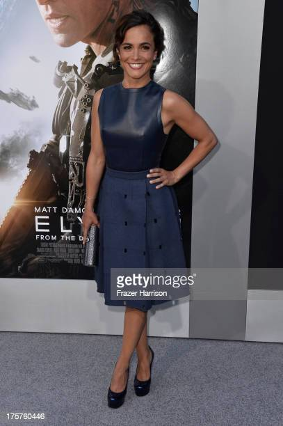 Actress Alice Braga arrives at the premiere of TriStar Pictures' Elysium at Regency Village Theatre on August 7 2013 in Westwood California
