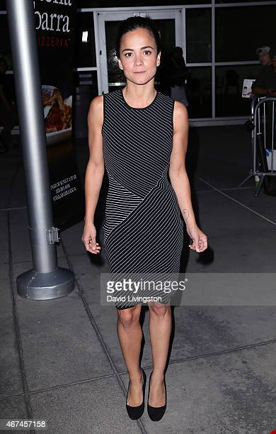 Actress Alice Braga attends the premiere of Magnolia Pictures' 'Kill Me Three Times' at ArcLight Hollywood on March 24 2015 in Hollywood California