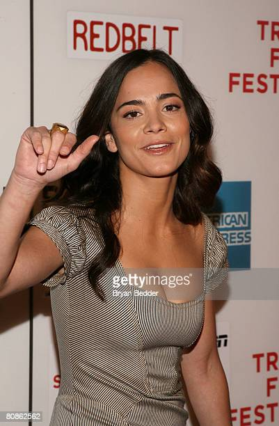 Actress Alice Braga attends the premiere of 'Redbelt' during the 2008 Tribeca Film Festival on April 25 2008 in New York City