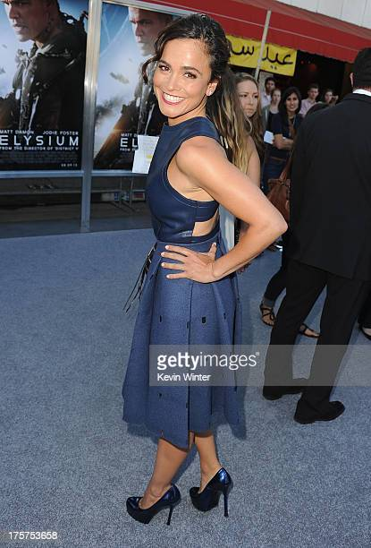 Actress Alice Braga attends the premiere of TriStar Pictures' 'Elysium' at Regency Village Theatre on August 7 2013 in Westwood California