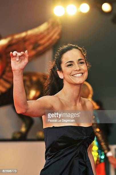 Actress Alice Braga attends the 'The Burning Plain' premiere at the Sala Grande during the 65th Venice Film Festival on August 29 2008 in Venice Italy