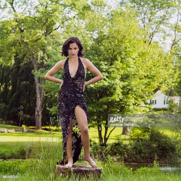 Actress Alice Braga is photographed for Town Country Magazine on June 2 2013 in Bedford New York PUBLISHED IMAGE