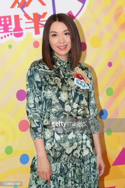 Actress Alice Chan Wai attends TVB television show Liza's On Line taping on February 24 2020 in Hong Kong China