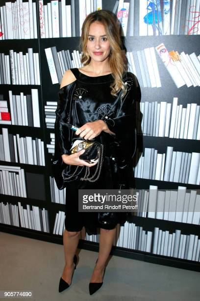 Actress Alice David attends the Manifesto Sonia Rykiel 5Oth Birthday Party at the Flagship Store Boulevard Saint Germain des Pres on January 16 2018...