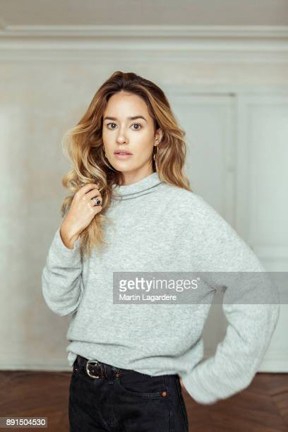 Actress Alice David is photographed for Self Assignment on November 2017 in Paris France