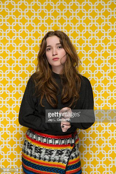 Actress Alice Englert is photographed at the Sundance Film Festival for Los Angeles Times on January 20 2013 in Park City Utah PUBLISHED IMAGE CREDIT...