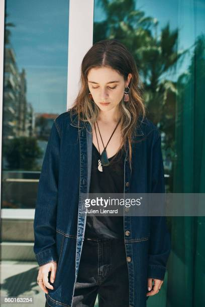 Actress Alice Englert is photographed for Self Assignment on May 24 2017 in Cannes France