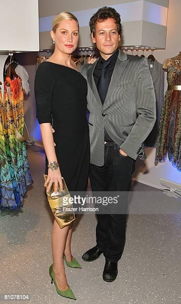 Actress Alice Evans and actor Ioan Gruffudd arrive at the Alexander McQueen store opening held at the new Alexander McQueen store on May 13 2008 in...