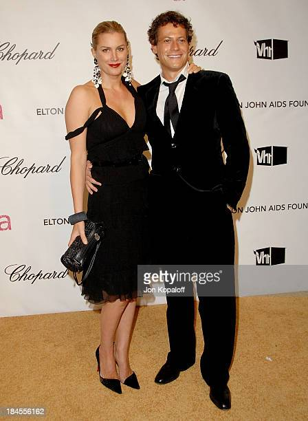 Actress Alice Evans and husband Ioan Gruffudd attend the 16th Annual Elton John AIDS Foundation Oscar Party at the Pacific Design Center on February...