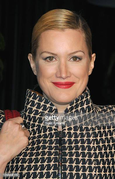 Actress Alice Evans arrives at the Chanel Charles Finch PreOscar Dinner Celebrating Fashion Film at Madeo Restaurant on February 26 2011 in Los...