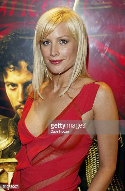 Actress Alice Evans arrives at the European Premiere of 'King Arthur' at the Empire Leicester Square on July 15 2004 in London