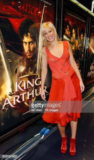 Actress Alice Evans arrives for the European film premiere of King Arthur at the Empire Leicester Square in central London