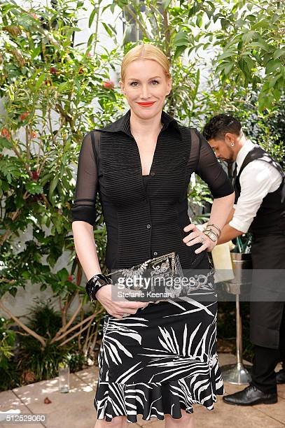 Actress Alice Evans attends NETAPORTER Celebrates Women Behind The Lens at Chateau Marmont on February 26 2016 in Los Angeles California