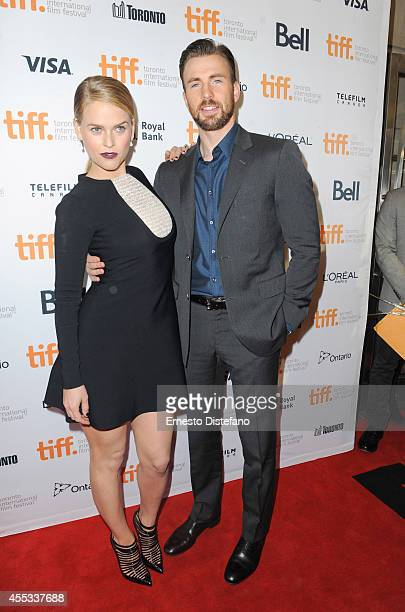 Actress Alice Eve and actor/director Chris Evans attend the Before We Go premiere at the Toronto International Film Festival at Princess of Wales...