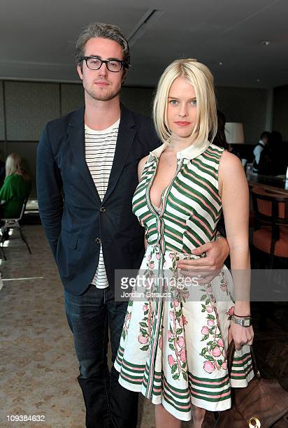 Actress Alice Eve and Adam O'Riordan attend Piaget Hollywood Lunch held at Soho House on February 23 2011 in West Hollywood California