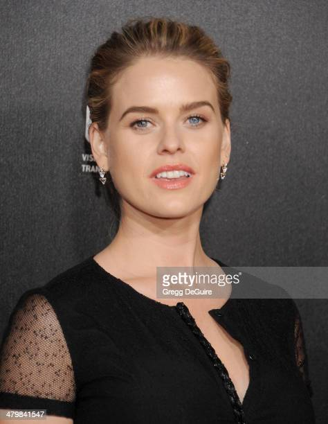 Actress Alice Eve arrives at the 2nd Annual Rebel With A Cause Gala at Paramount Studios on March 20 2014 in Hollywood California