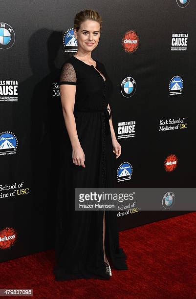 Actress Alice Eve arrives at the 2nd Annual Rebels With A Cause Gala at Paramount Studios on March 20 2014 in Hollywood California