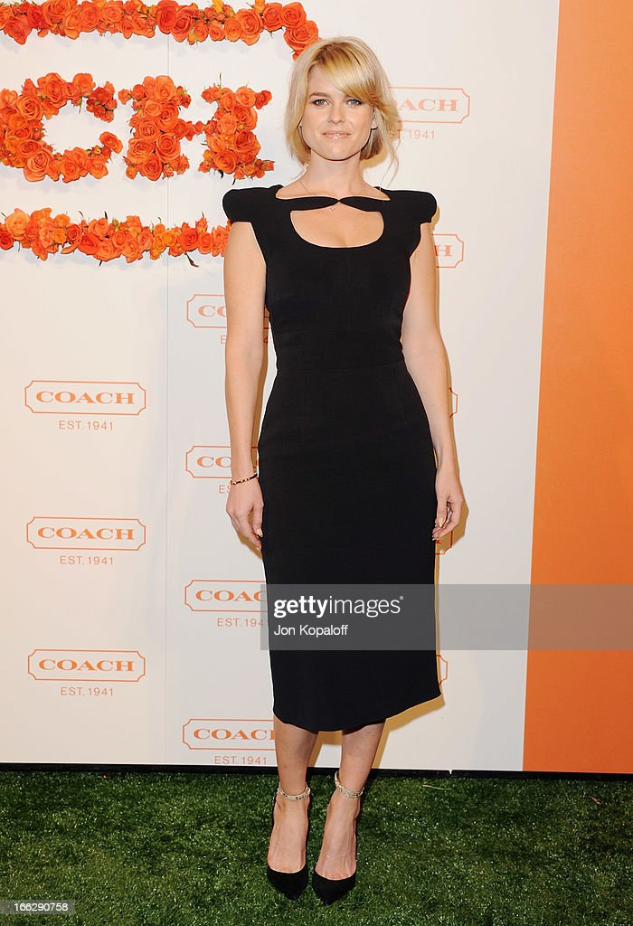 Actress Alice Eve arrives at the 3rd Annual Coach Evening To Benefit Children's Defense Fund at Bad Robot on April 10, 2013 in Santa Monica, California.