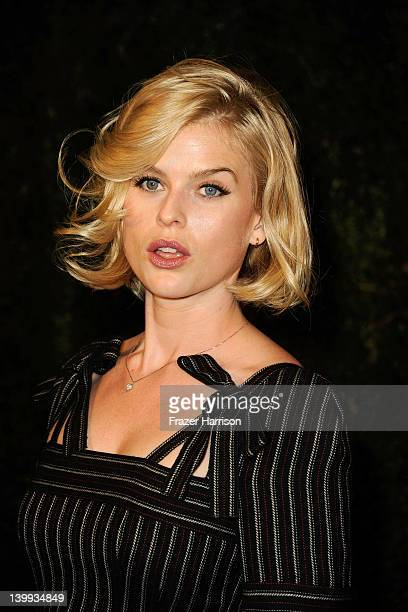 Actress Alice Eve arrives at the Chanel And Charles Finch PreOscar Dinner at Madeo Restaurant on February 25 2012 in Los Angeles California
