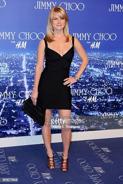 Actress Alice Eve arrives at the Jimmy Choo for HM Collection private event in support of the Motion Picture Television Fund on November 2 2009 in...