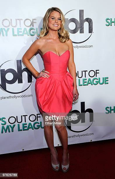 Actress Alice Eve arrives at the Las Vegas premiere of She's Out of My League at the Planet Hollywood Resort Casino on March 10 2010 in Las Vegas...