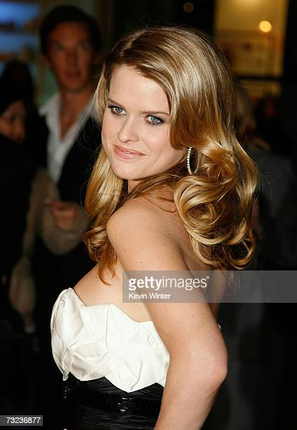 """Actress Alice Eve arrives at the Los Angeles premiere of """"Starter For 10"""" at the ArcLight Theatres on February 6, 2007 in Hollywood, California."""