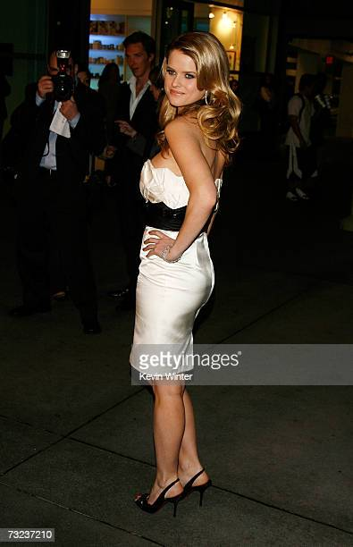 Actress Alice Eve arrives at the Los Angeles premiere of Starter For 10 at the ArcLight Theatres on February 6 2007 in Hollywood California