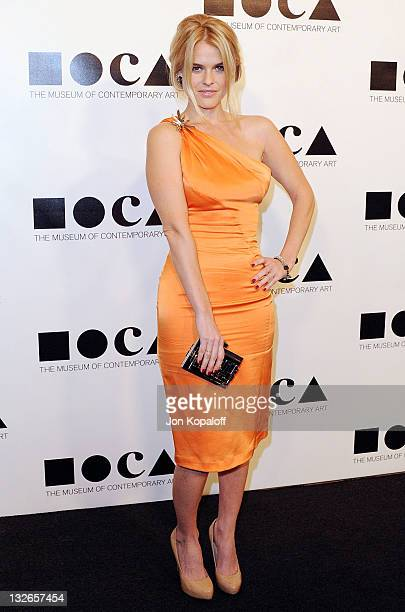 Actress Alice Eve arrives at the MOCA Gala 2011 An Artist's Life Manifesto Directed By Marina Abramovic at MOCA Grand Avenue on November 12 2011 in...