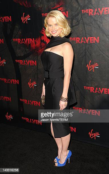 Actress Alice Eve arrives at the pecial screening of Relativity Media's The Raven on April 23 2012 in Los Angeles California