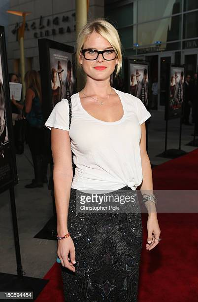 Actress Alice Eve arrives at the premiere of The Weinstein Company's 'Lawless' held at ArcLight Cinemas on August 22 2012 in Hollywood California